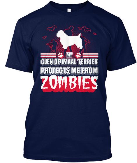 Glen Of Imaal Terrier Navy T-Shirt Front