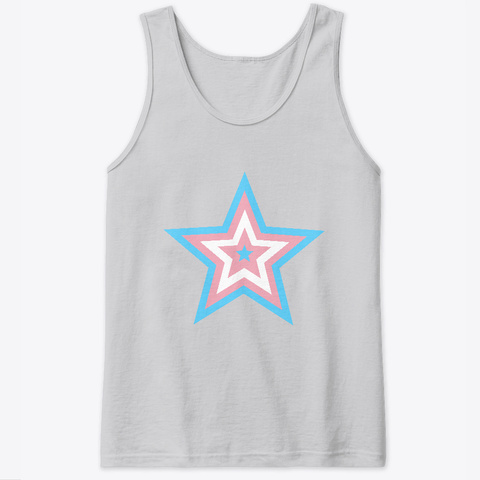 Trans Pride Star Sport Grey T-Shirt Front
