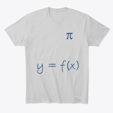 Math Geek T Shirt Light Heather Grey  T-Shirt Front