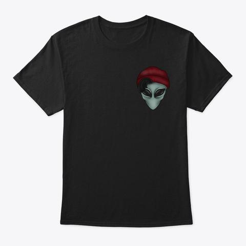 Alien Basic Black T-Shirt Front