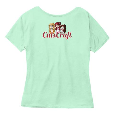 Cats Craft Mint  Women's T-Shirt Back