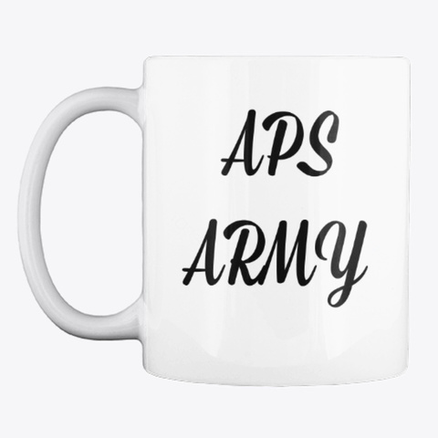 Aps Army Coffee Cups White T-Shirt Front