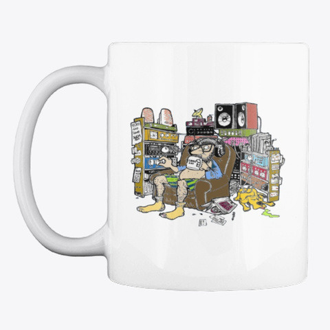 Radio Guy Mug White T-Shirt Front