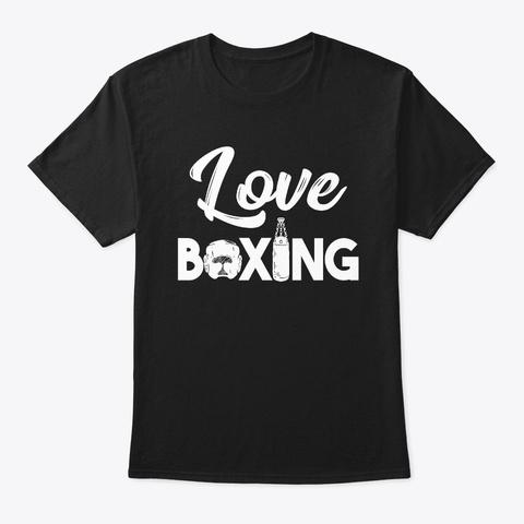 Love Boxing Black T-Shirt Front