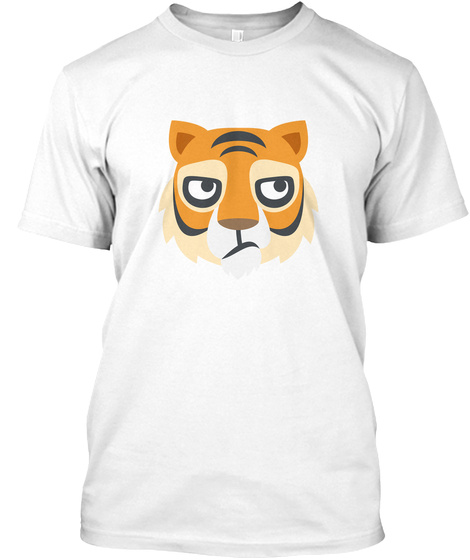 Tiger Lover Only White T-Shirt Front