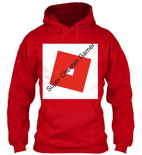 Super Cheetah Gamer Red T-Shirt Front