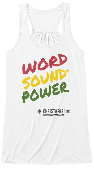 Womens Christafari Word Sound and Power Unisex Tshirt