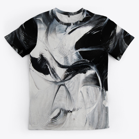 Black & White Chic Black T-Shirt Front