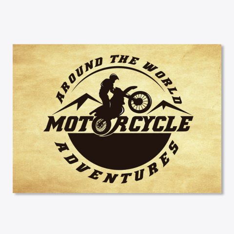 Motorcycle Adventures Sticker White T-Shirt Front