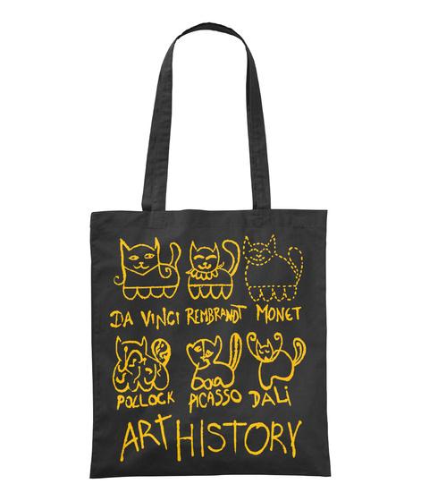 Da Vinci Rembrandt Monet Poclock Picasso Dali Art History Black Maglietta Front
