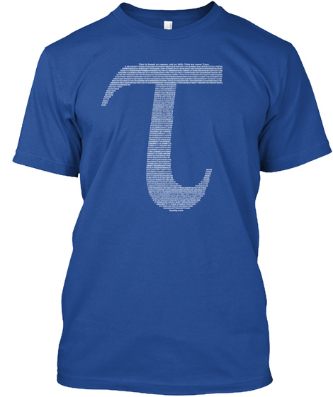 Official Tau Shirt – Limited Time Deep Royal T-Shirt Front