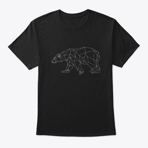 Geometric Wild Bear Product Cool Gift Black T-Shirt Front