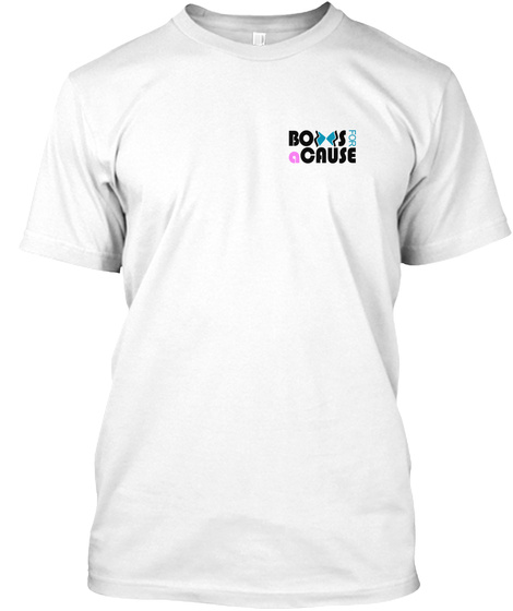 Bows For A Cause Global White T-Shirt Front