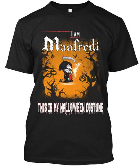 Manfredi Halloween Costume Black T-Shirt Front