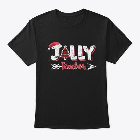 Jolly Teacher Black T-Shirt Front