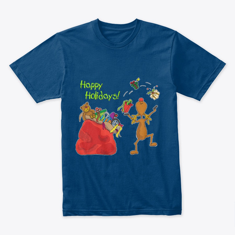 Holiday Gifts Toys Moose Cool Blue T-Shirt Front