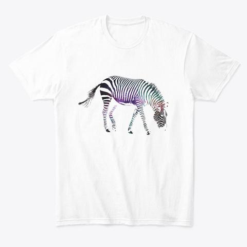 Cosmic Zebra White T-Shirt Front