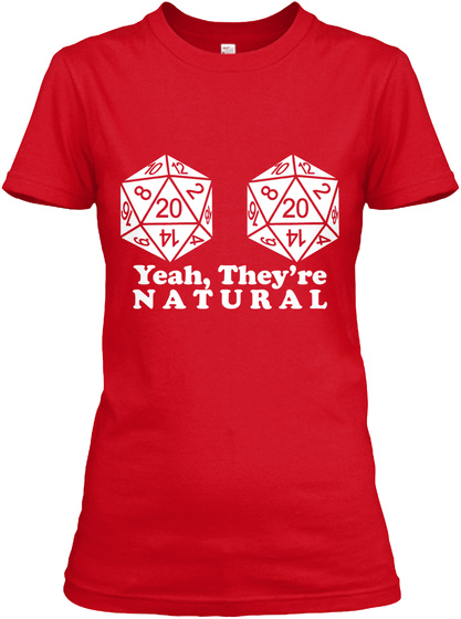 Natural 20's Red Women's T-Shirt Front