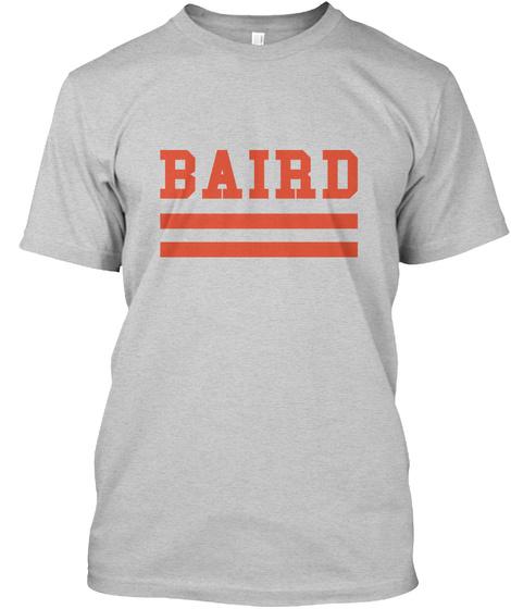 Baird Family Flag Style Light Steel T-Shirt Front