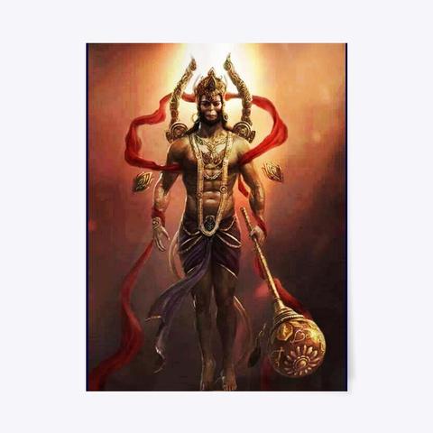 Hanumanji Brand Poster, T Shirt Dark Navy T-Shirt Front
