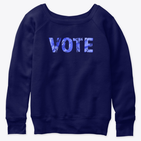 Vote Blue Tie Dye &Amp; Distressed  Navy  T-Shirt Front