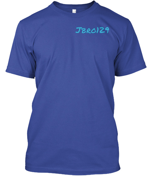 Jbr0129 Deep Royal T-Shirt Front