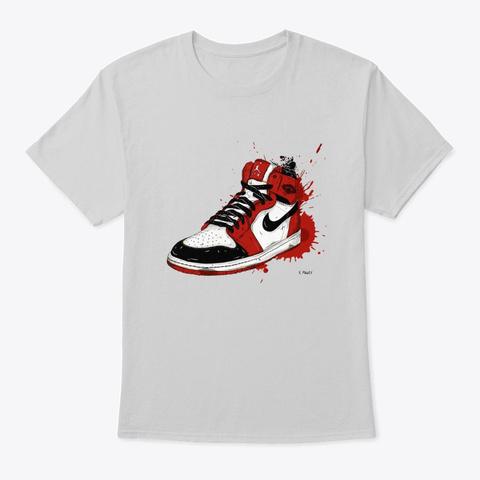 Paint Drip Sneaker Art Red Light Steel T-Shirt Front