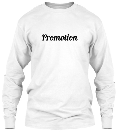 Promotion White Camiseta Front
