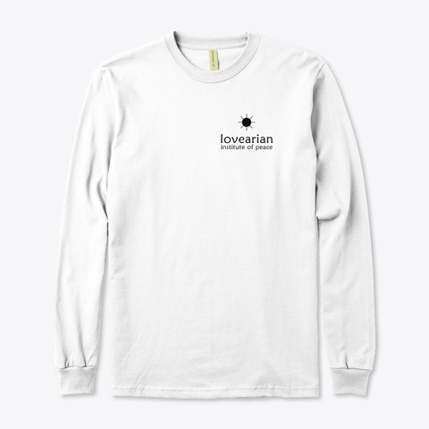L.I.O.P. Logo (White) White T-Shirt Front