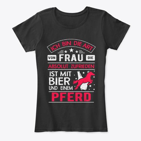 Pferde Ist Mit Bier T Shirt Black T-Shirt Front