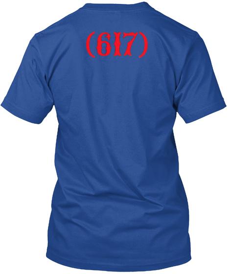 Boston 617 T Shirts Deep Royal T-Shirt Back