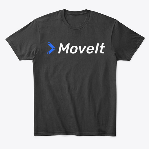 Move It Tee / Hoodie Black T-Shirt Front