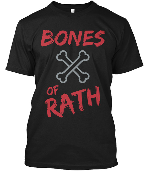 Bones Of Rath Black T-Shirt Front