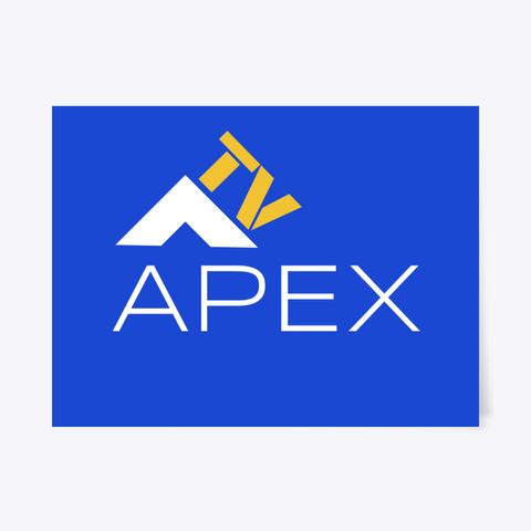 Apex Tv Poster Royal Blue T-Shirt Front