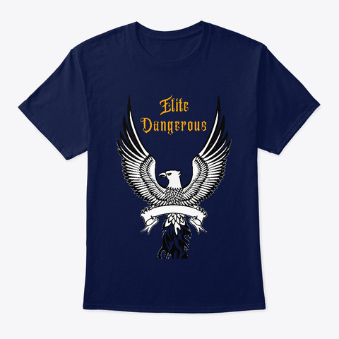 Elite Dangerous T Shirt Navy T-Shirt Front