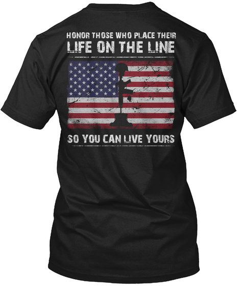 Limited Edition   Life On The Line Black T-Shirt Back