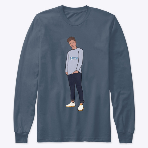 Sweatshirt (Lukas Renner) By Lev'co  Indigo T-Shirt Front