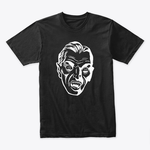 Halloween   Evil Bloodsucking Dracula Black T-Shirt Front