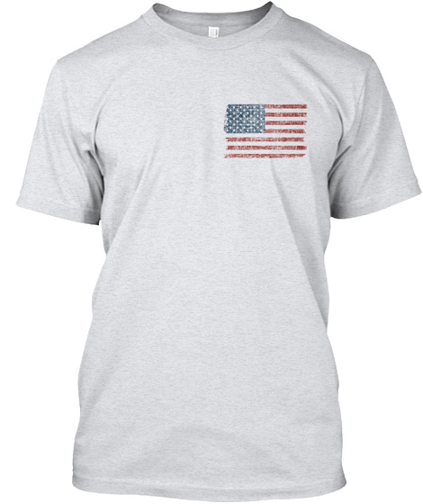 I Love America Ash T-Shirt Front
