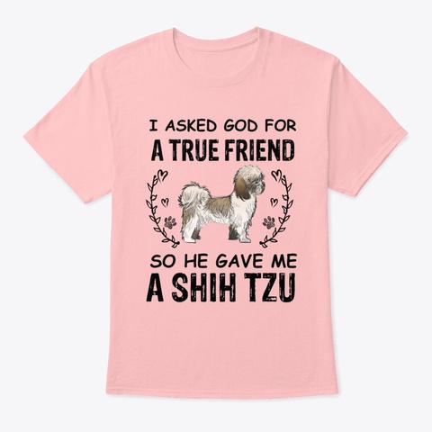 Vintage A True Friend So God Tee Pale Pink T-Shirt Front