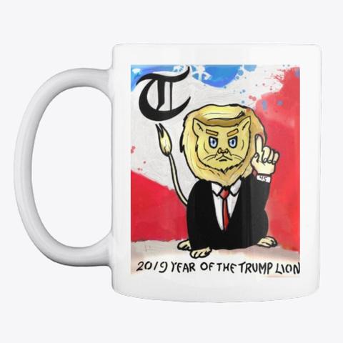 Donald Trump Lion 2019  White Camiseta Front