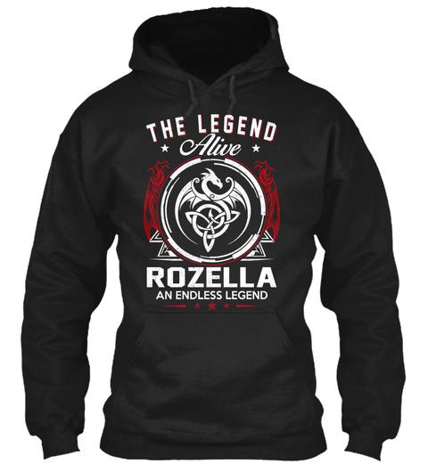 The Legend Alive Rozella An Endless Legend Black T-Shirt Front