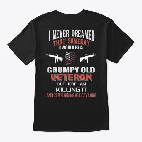 Veteran   Soldier   Military   Vet   038 Black T-Shirt Back