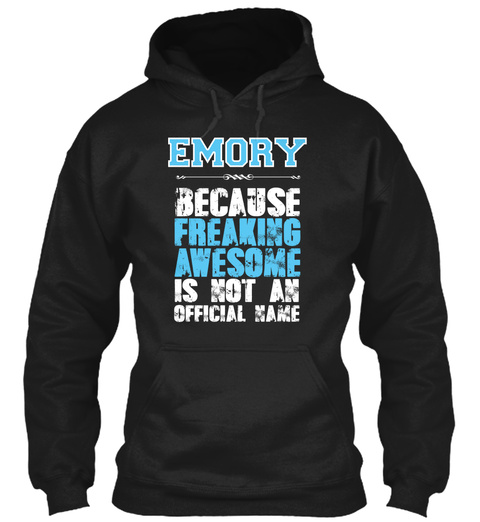 Emory Is Awesome T Shirt Black T-Shirt Front