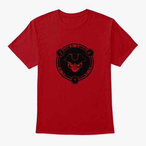 Gold Watcher Portal Deep Red T-Shirt Front