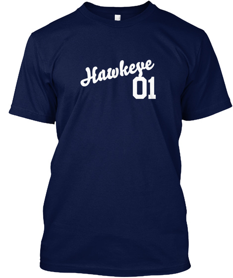 Hawkeye Varsity Legend Navy T-Shirt Front