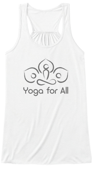 Yoga For All Warriors Too White Women's Tank Top Front