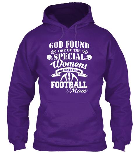 Football Moms! Purple T-Shirt Front