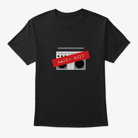 Radio Edit Black T-Shirt Front