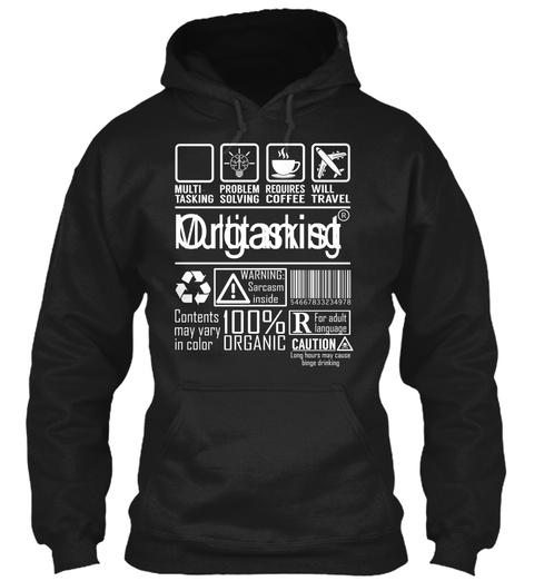 Organist   Multi Tasking Black T-Shirt Front